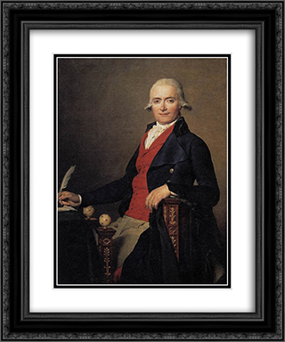 Portrait of Gaspar Mayer 20x24 Black or Gold Ornate Framed and Double Matted Art Print by Jacques Louis David