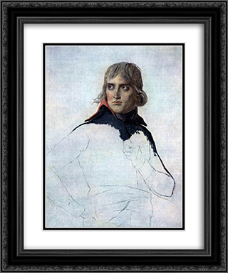 Portrait of General Bonaparte 20x24 Black or Gold Ornate Framed and Double Matted Art Print by Jacques Louis David