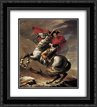Napoleon at the St. Bernard Pass 20x22 Black or Gold Ornate Framed and Double Matted Art Print by Jacques Louis David