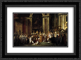 Consecration of the Emperor Napoleon I and Coronation of the Empress Josephine 24x18 Black or Gold Ornate Framed and Double Matted Art Print by Jacques Louis David