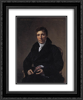 Portrait of Emmanuel-Joseph Sieyes 20x24 Black or Gold Ornate Framed and Double Matted Art Print by Jacques Louis David