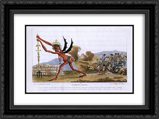 The English Government 24x18 Black or Gold Ornate Framed and Double Matted Art Print by Jacques Louis David