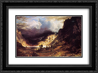 A Storm in the Rocky Mountains, Mr. Rosalie 24x18 Black or Gold Ornate Framed and Double Matted Art Print by Albert Bierstadt