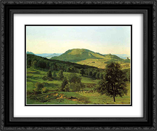 Hill and Dale 24x20 Black or Gold Ornate Framed and Double Matted Art Print by Albert Bierstadt