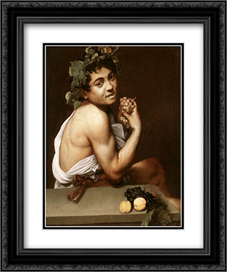 Sick Bacchus 20x24 Black or Gold Ornate Framed and Double Matted Art Print by Caravaggio