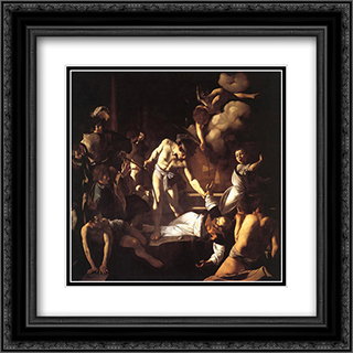 The Martyrdom of St. Matthew 20x20 Black or Gold Ornate Framed and Double Matted Art Print by Caravaggio