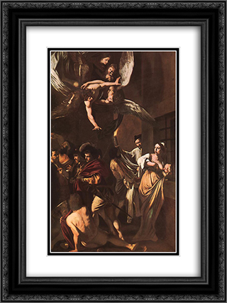 The Crucifixion of Saint Peter 18x24 Black or Gold Ornate Framed and Double Matted Art Print by Caravaggio