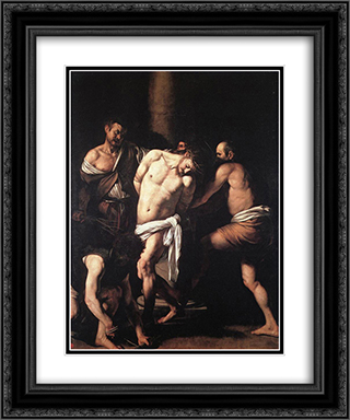 Flagellation 20x24 Black or Gold Ornate Framed and Double Matted Art Print by Caravaggio