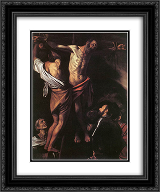 The Crucifixion of St. Andrew 20x24 Black or Gold Ornate Framed and Double Matted Art Print by Caravaggio