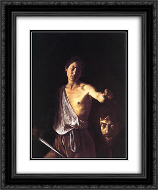 David 20x24 Black or Gold Ornate Framed and Double Matted Art Print by Caravaggio