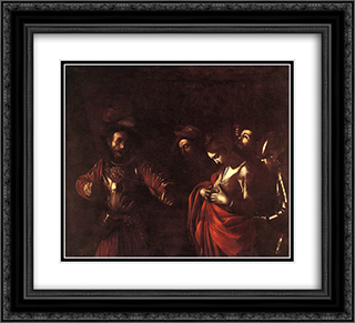 The Martyrdom of St. Ursula 22x20 Black or Gold Ornate Framed and Double Matted Art Print by Caravaggio