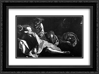 Christ in the Garden 24x18 Black or Gold Ornate Framed and Double Matted Art Print by Caravaggio