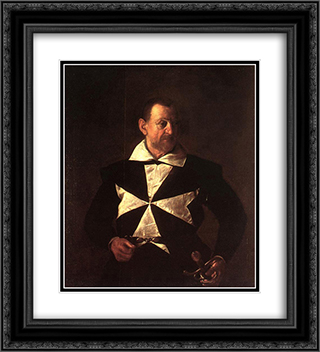 Portrait of Alof de Wignacourt 20x22 Black or Gold Ornate Framed and Double Matted Art Print by Caravaggio