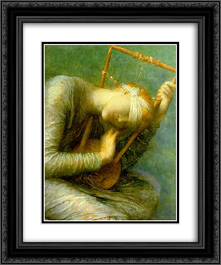 Hope - detail 20x24 Black or Gold Ornate Framed and Double Matted Art Print by George Frederick Watts