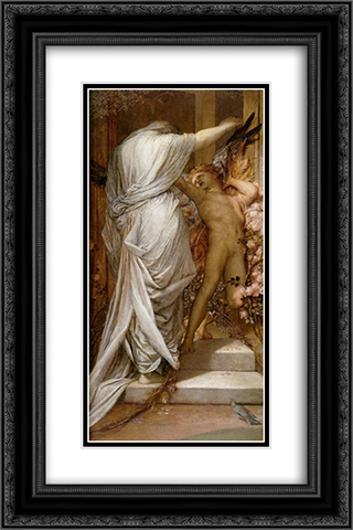 Love and Death 16x24 Black or Gold Ornate Framed and Double Matted Art Print by George Frederick Watts