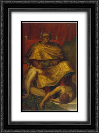 Mammon 18x24 Black or Gold Ornate Framed and Double Matted Art Print by George Frederick Watts