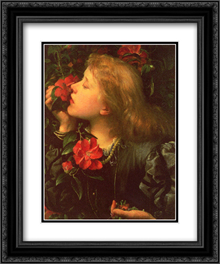 Choosing 20x24 Black or Gold Ornate Framed and Double Matted Art Print by George Frederick Watts