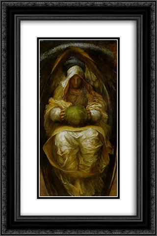 The Recording Angel 16x24 Black or Gold Ornate Framed and Double Matted Art Print by George Frederick Watts
