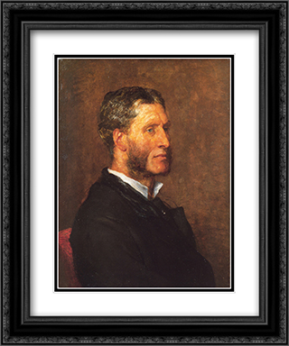 Matthew Arnold 20x24 Black or Gold Ornate Framed and Double Matted Art Print by George Frederick Watts