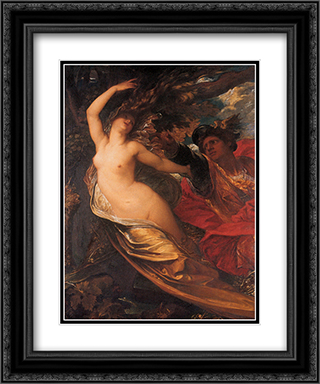 Orlando Pursuing the Fata Morgana 20x24 Black or Gold Ornate Framed and Double Matted Art Print by George Frederick Watts