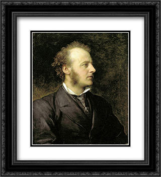 Portrait of Sir John Everett Millais 20x22 Black or Gold Ornate Framed and Double Matted Art Print by George Frederick Watts