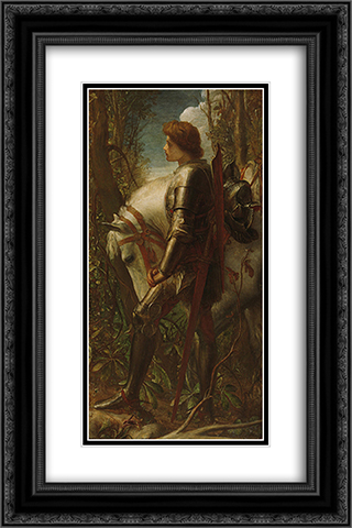 Sir Galahad 16x24 Black or Gold Ornate Framed and Double Matted Art Print by George Frederick Watts