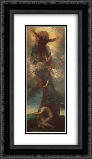 The Denunciation of Adam and Eve 14x24 Black or Gold Ornate Framed and Double Matted Art Print by George Frederick Watts