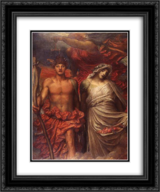 Time, Death and Judgement 20x24 Black or Gold Ornate Framed and Double Matted Art Print by George Frederick Watts
