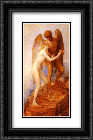 Love And Life 16x24 Black or Gold Ornate Framed and Double Matted Art Print by George Frederick Watts