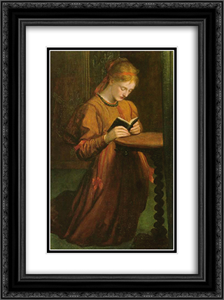 May Prinsep 18x24 Black or Gold Ornate Framed and Double Matted Art Print by George Frederick Watts