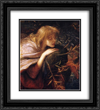 Ophelia 20x22 Black or Gold Ornate Framed and Double Matted Art Print by George Frederick Watts