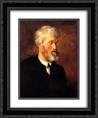 Portrait of Thomas Carlyle 20x24 Black or Gold Ornate Framed and Double Matted Art Print by George Frederick Watts