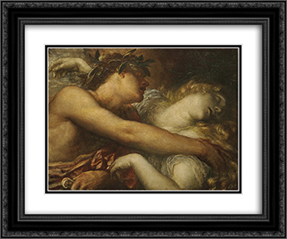 Orpheus and Eurydice 24x20 Black or Gold Ornate Framed and Double Matted Art Print by George Frederick Watts