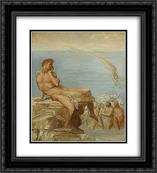 The Genius of Greek Poetry 20x22 Black or Gold Ornate Framed and Double Matted Art Print by George Frederick Watts