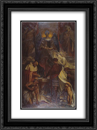 The Court of Death 18x24 Black or Gold Ornate Framed and Double Matted Art Print by George Frederick Watts