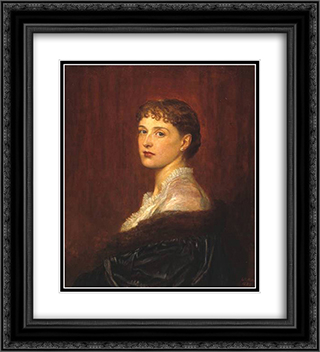 Mrs Arthur Sassoon 20x22 Black or Gold Ornate Framed and Double Matted Art Print by George Frederick Watts