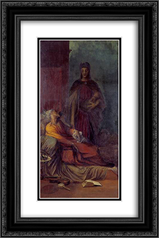 The Messenger 16x24 Black or Gold Ornate Framed and Double Matted Art Print by George Frederick Watts