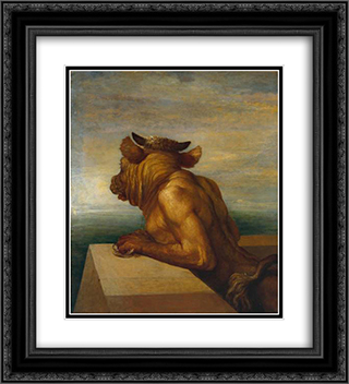 The Minotaur 20x22 Black or Gold Ornate Framed and Double Matted Art Print by George Frederick Watts