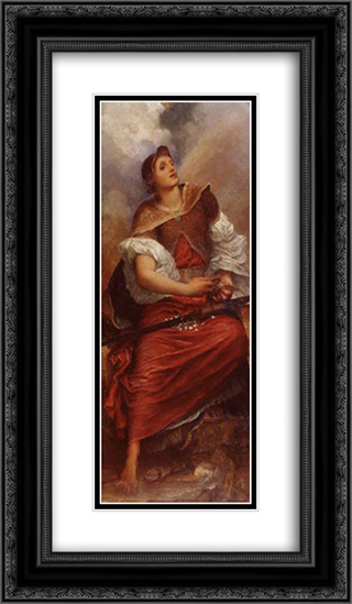 Faith 14x24 Black or Gold Ornate Framed and Double Matted Art Print by George Frederick Watts
