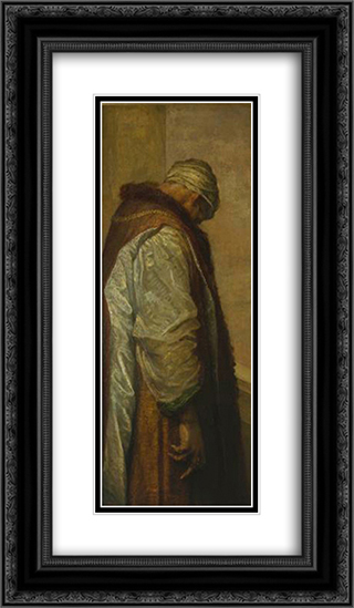 For he had great possessions' 14x24 Black or Gold Ornate Framed and Double Matted Art Print by George Frederick Watts