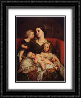 Mrs George Augustus Frederick Cavendish-Bentinck and her Children 20x24 Black or Gold Ornate Framed and Double Matted Art Print by George Frederick Watts