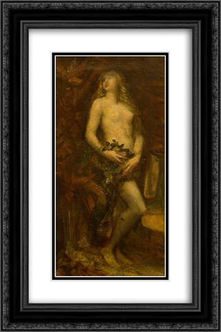 Eve Tempted 16x24 Black or Gold Ornate Framed and Double Matted Art Print by George Frederick Watts