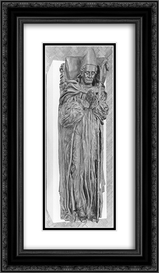 Effigy of Bishop Lonsdale 14x24 Black or Gold Ornate Framed and Double Matted Art Print by George Frederick Watts