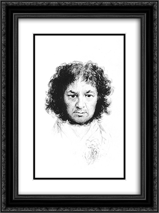 Self-Portrait 18x24 Black or Gold Ornate Framed and Double Matted Art Print by Francisco Goya