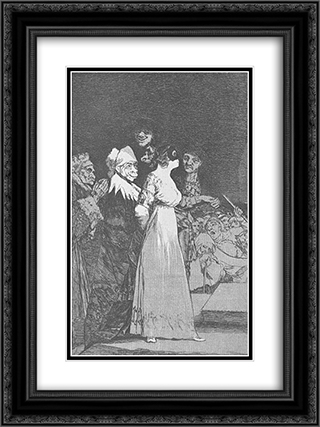 Caprichos - Plate 2: They Say Yes and Give their Hand to the First Comer 18x24 Black or Gold Ornate Framed and Double Matted Art Print by Francisco Goya