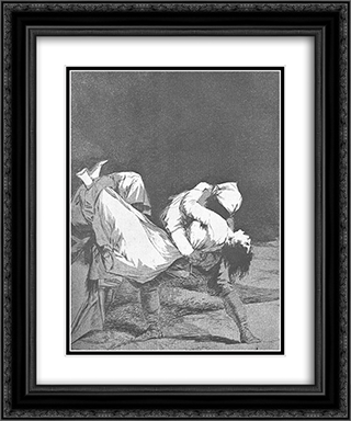 Caprichos - Plate 8: They Carried her Off 20x24 Black or Gold Ornate Framed and Double Matted Art Print by Francisco Goya