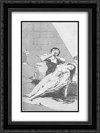 Caprichos - Plate 9: Tantalus 18x24 Black or Gold Ornate Framed and Double Matted Art Print by Francisco Goya