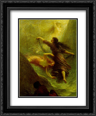 Nymphs 20x24 Black or Gold Ornate Framed and Double Matted Art Print by Henri Fantin Latour
