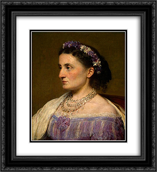 Duchess de Fitz-James 20x22 Black or Gold Ornate Framed and Double Matted Art Print by Henri Fantin Latour