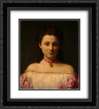 Mademoiselle de Fitz-James 20x22 Black or Gold Ornate Framed and Double Matted Art Print by Henri Fantin Latour